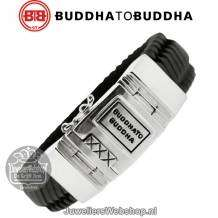 Buddha to Buddha Armband 783BL Edwin Leather Black E 19cm