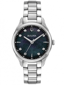 Bulova Sutton Dameshorloge 96P198 met Diamant