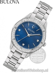 Bulova Sutton Dameshorloge 96R243 met Diamant