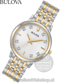 Bulova Diamond Dameshorloge 98P189 Bicolor met Diamant