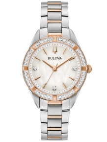 Bulova Sutton Dameshorloge 98R281 Bicolor met Diamant
