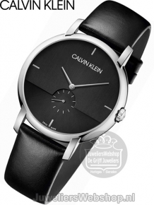 Calvin Klein Established herenhorloge K9H2X1C1 zwart