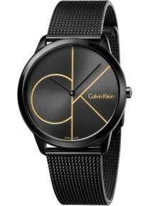 calvin klein minimal heren horloge k3m214x1 zwart