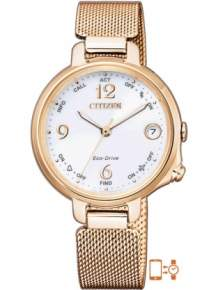 citizen ee4033-87a horloge bluetooth eco drive dames rose