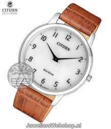 ar1130-13a citizen heren horloge eco drive leather