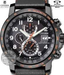 at8125-05e citizen sport horloge radio controlled  zwart
