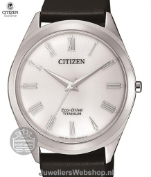 citizen titanium herenhorloge bj6520-15a eco drive wit