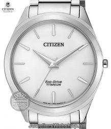 citizen titanium herenhorloge bj6520-82a eco drive wit