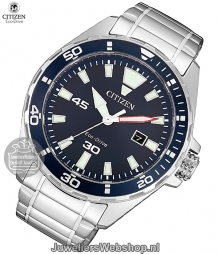 bm7450-81l citizen herenhorloge eco drive sports staal blauw