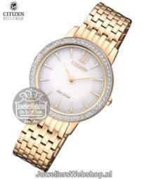 ex1483-84a citizen dames horloge elegance eco drive rose
