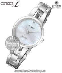 em0430-85n citizen dames horloge elegance eco drive ladies parelmoer
