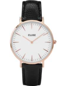 Cluse Horloge CL18037 La Boheme Rose Gold White - Black Lizard