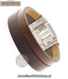 dacayatwin cam armband F120220 d.brown-tobacco 20mm