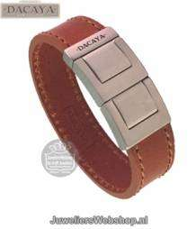 dacaya fat chopper f122320 armband cognac 20mm