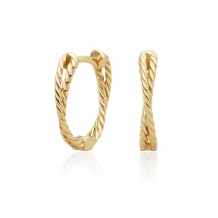 sparkling jewels earring editions Double Twist Gold creolen eag22
