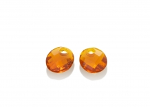 sparkling jewels earring editions Citrine Quartz Twist Oval eardrops eagem38-so
