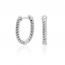 sparkling jewels earring editions Twist silver creolen eas21