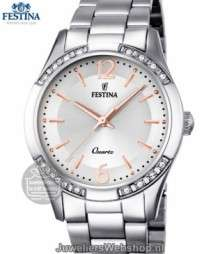 festina f16913/1 dameshorloge bicolor rose