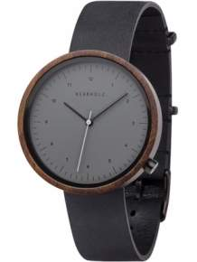 Kerbholz Heinrich Sandalwood Midnight Black Horloge 4251240402536