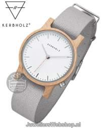 Kerbholz Wilma Maple Light Grey Horloge 4251240407241