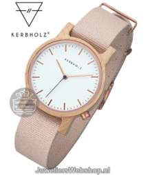 Kerbholz Wilma Maple Rose Horloge 4251240407234