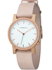 kerbholz houten horloge wilma maple rose