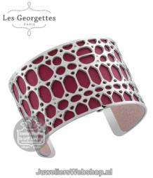 Les Georgettes Crocodile Armband Zilver 40mm