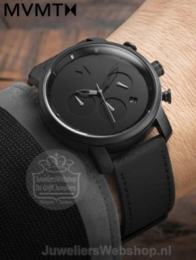 MVMT Chrono 40 Black Leather D-MC02-BLBL
