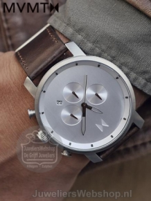 MVMT Chrono Silver Brown D-MC01-SBRL