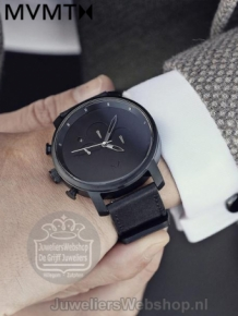 MVMT Chrono Black Leather D-MC01BL