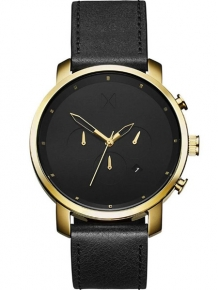 MVMT Chrono Gold Black Leather D-MC01GL