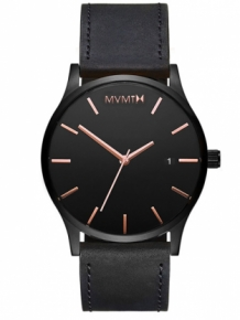 MVMT Classic Black Rose Leather D-MM01-BBRGL