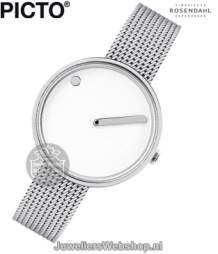 | Rosendahl horloge Picto Watch 43363-0812 Analoog 30 mm Wit Staal