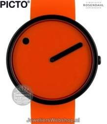 Rosendahl horloge Picto Watch 43374 Analoog 40 mm Oranje