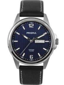 Prisma Horloge P1661 Heren Pattern Leather Blauw