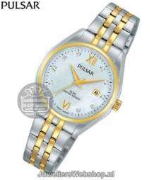 pulsar bicolor horloge ph7456x1 dames