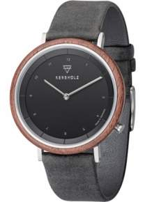 Kerbholz Slim Modern Walnut Dark Grey Horloge 4251240407401