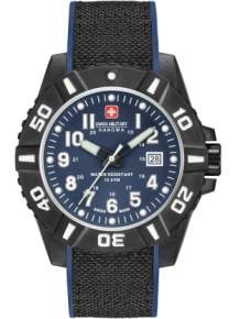 Swiss Military Hanowa Black Carbon horloge 06-4309.17.007.03 Blauw