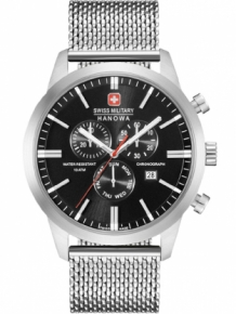 swiss military 06-3308.04.007 herenhorloge chrono zwart