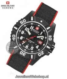 Swiss Military Hanowa Black Carbon horloge 06-4309.17.007.04 Zwart