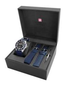 Swiss Military Hanowa Sea Lion horloge set 06-8279.04.007.03SET Blauw