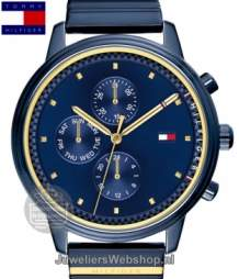 tommy hilfiger dames horloge th1781893 staal blauw