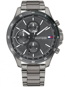 Tommy Hilfiger Horloge TH1791719 Bank Multi-Date Grijs