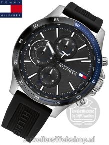 Tommy Hilfiger Horloge TH1791724 Bank Multi-Date Zwart