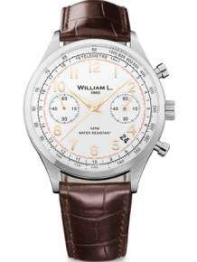 William L 1985 heren horloge WLAC01BCORCM Chronograph Vintage Style