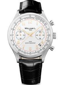 William L 1985 heren horloge WLAC01BCORCN Chronograph Vintage Style