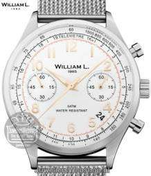 William L Horloge WLAC01BCORMM Chrono Edelstaal  Bicolor