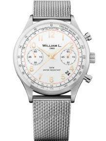 William L 1985 heren horloge WLAC01BCORMM Chronograph Vintage Style