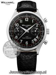 | William L Horloge WLAC01NRBN Chrono Zwart