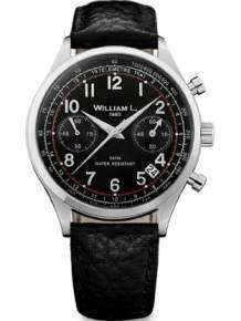 William L 1985 heren horloge WLAC01NRBN Chronograph Vintage Style